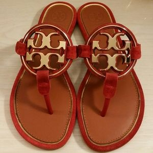 🍎RARE🍎Miller Sandals by Tory Burch in Red Apple